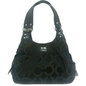 COACH OP Art Madison Maggie Hobo Purse in Black